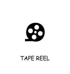 Tape reel flat icon vector