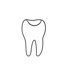 tooth cavity hand drawn outline doodle icon vector image