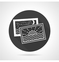 Tourism black round icon vector
