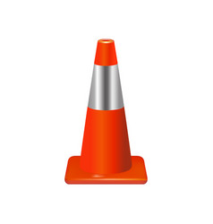 traffic cone sign vector image