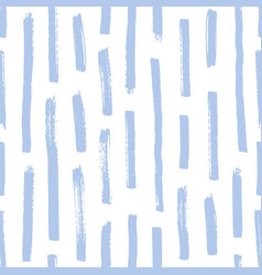 Trendy seamless pattern with rough blue brush vector