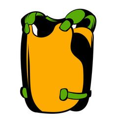 vest icon cartoon vector image