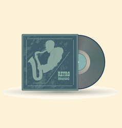 vinyl record retro music vector image