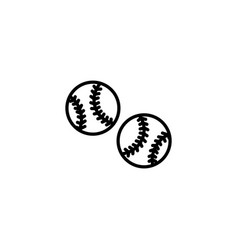 web line icon baseball black on white background vector image