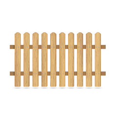 Wooden fence with nails vector
