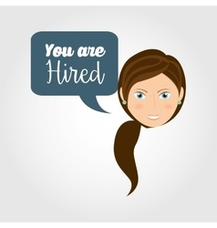 You are hired design vector