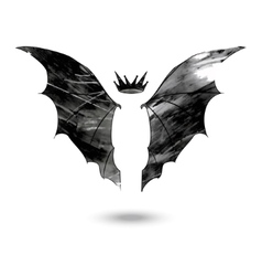 Bat wings with crown vector image