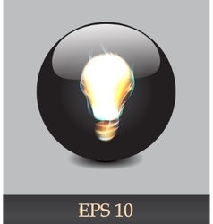 Fiery bulb vector image