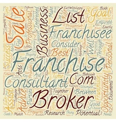 Franchise Business Opportunities What Is The Role vector image vector image