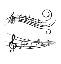 music notes on stave vector image vector image