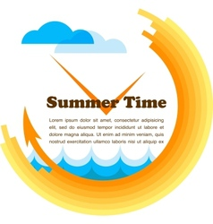 summer time yellow clock with place for your text vector image