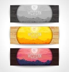 Western landscape banners vector image