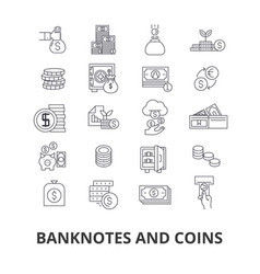 banknotes and coins money euro guilloche bank vector image vector image