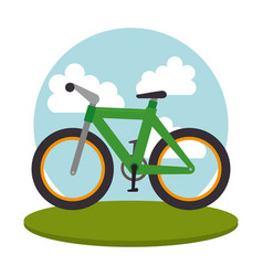 bicycle vehicle transport icon vector image vector image