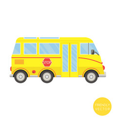 cartoon transport school bus vector image