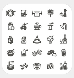 Food and Dessert icons set vector image