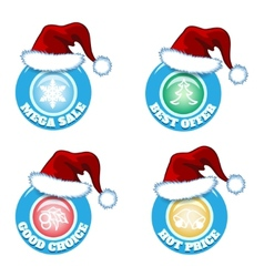 hot price and offers seasonal new year sale badges vector image vector image