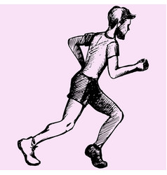 man runner vector image