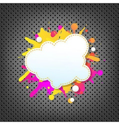 Metal Background With Color Speech Bubble vector image vector image