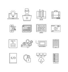Program Development Icon Set vector image vector image