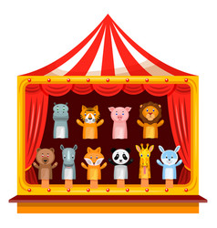 puppet show theatre vector image