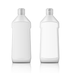 White plastic bottle for bleach with label vector image vector image