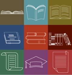 Book Icons Set Document and Paper signs - vector image vector image