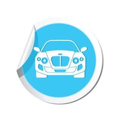CAR BLUE LABEL vector image vector image