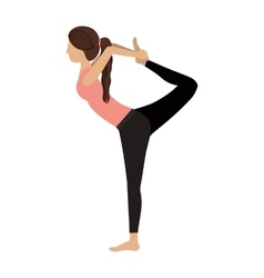 colorful yoga woman lord of the dance pose three vector image