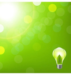 Green Background With Bokeh And Lamp vector image