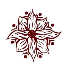 Hand drawn mandala flower vector image vector image