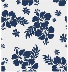 Hibiscus flower seamless pattern vector