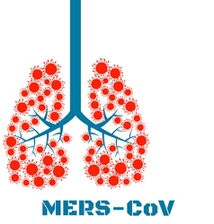 Mers virus respiratory pathogens vector image
