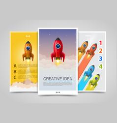 modern vertical banners creative idea 3d leader vector image