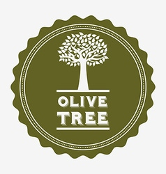 Olive tree design vector