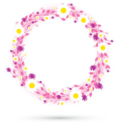pink round flowers vector image vector image