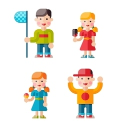Set of happy children vector image
