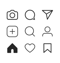 simple social media icon set vector image