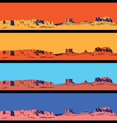 Wild West mini set vector image