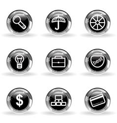 Glossy icon set 24 vector image