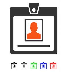 Person badge flat icon vector