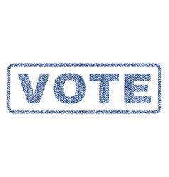 vote textile stamp vector image