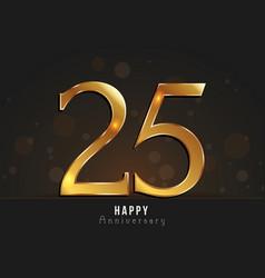25 years happy anniversary card vector