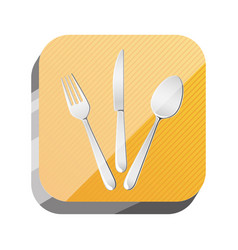 3d button cutlery utensils tool vector