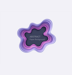 Abstract 3d background with papercut shapes paper vector