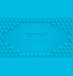 abstract blue background with hexagon shape vector image
