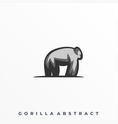 abstract gorilla template vector image