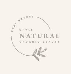 Aesthetic logo template business badge natural vector