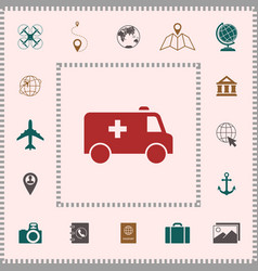ambulance symbol icon elements for your design vector image