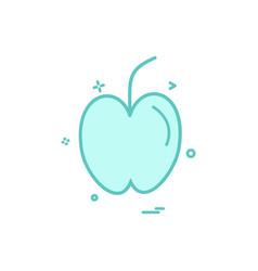 apple fruit study icon design vector image